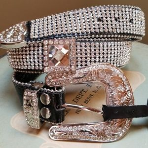 Cowgirl Genuine Leather Bling Rhinestone Boho Belt